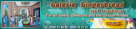 gingerbread gallery, Haitian art in saint Martin