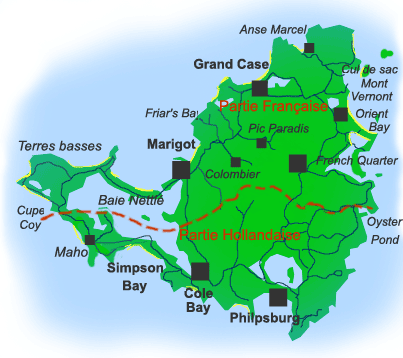 carte de saint martin