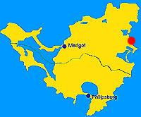 location of Orient bay, on saint martin s map