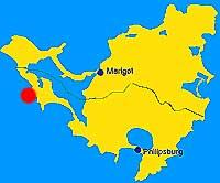 location of Burgeaux Bay, on St Maarten s map