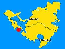 location of Simpson Bay, on St Maarten s map